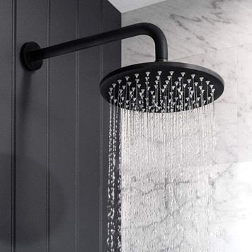 Crosswater MPRO Round 200mm Fixed Shower Head - Matt Black
