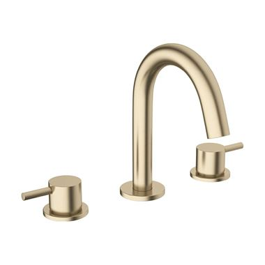 Crosswater MPRO 3 Hole Basin Mixer Tap - Brushed Brass