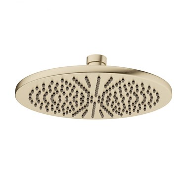 Crosswater MPRO Round 300mm Fixed Shower Head - Brushed Brass
