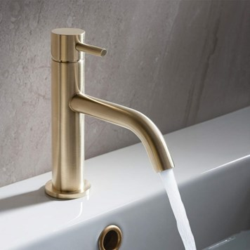 Crosswater MPRO Basin Mixer Tap - Brushed Brass