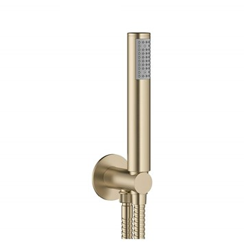 Crosswater MPRO Shower Handset with Wall Outlet and Hose - Brushed Brass