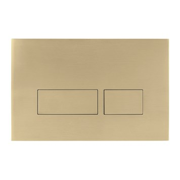 Crosswater MPRO Brushed Brass Dual Flush Plate