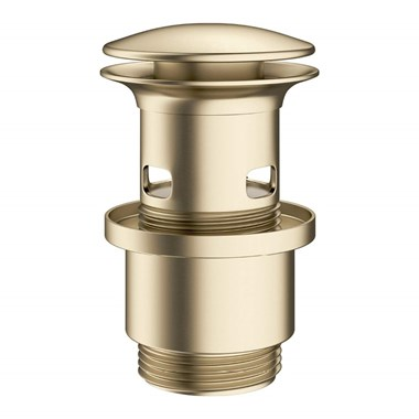 Crosswater MPRO Slotted Basin Click Clack Waste - Brushed Brass