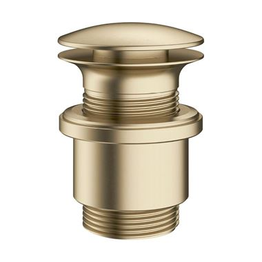Crosswater MPRO Unslotted Basin Click Clack Waste - Brushed Brass