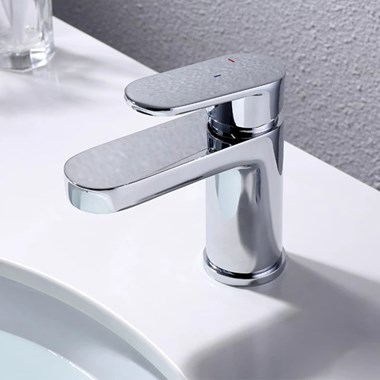 Vellamo Connect Basin Mixer with Clicker Waste
