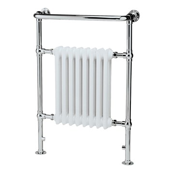 Premier Harrow Traditional Towel Rail - White & Chrome - 965 x 673mm
