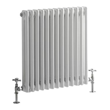 Premier Regency Horizontal Double Panel Radiator - White - 600 x 650mm