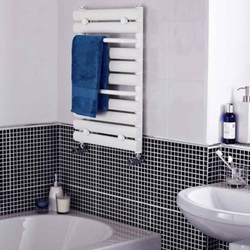 Premier Heated Towel Rail in White - 650 x 445mm