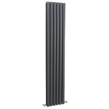 Premier Ricochet Vertical Double Panel Radiator - Anthracite - 1750 x 354mm