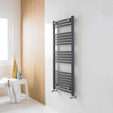 Premier Curved Ladder Rail in Anthracite - 1150 x 500mm