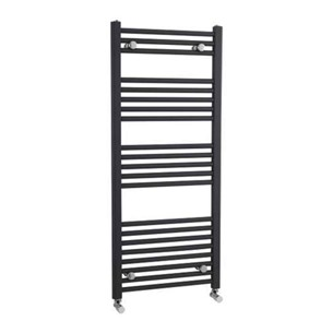 Premier Straight Anthracite Ladder Towel Rails - 1150 x 500mm
