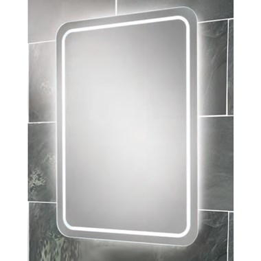 HIB Natalia Landscape or Portrait Steam Free LED Back-Lit Mirror with Ambient Lighting