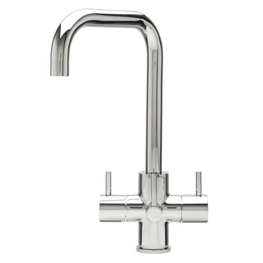 Caple Natick Puriti Triple Lever Mono Kitchen Mixer & Cold Filtered Water Tap - Chrome