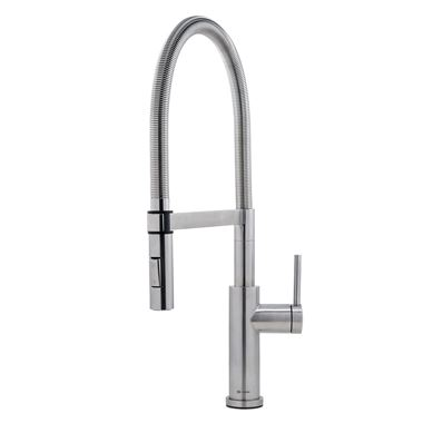 Caple Navitis Single Lever Mono Pull Out Spray Tap - Stainless Steel