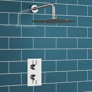 Naxos Concealed Shower Valve & Fixed Shower Head