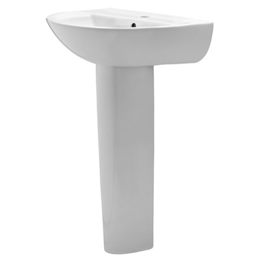 Premier Pandora 550mm 1 Tap Hole Basin and Full Pedestal