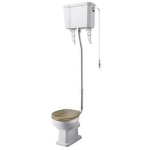 Kinglet Traditional High Level Toilet with Pan, Cistern & Flush Pipe Kit
