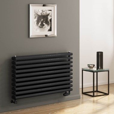 Reina Nevah Horizontal Double Panel Designer Radiator - Anthracite