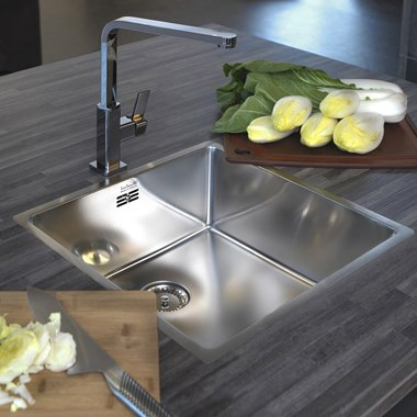 Reginox New York 1 Bowl Undermount Stainless Steel Kitchen Sink & Waste - 440 x 440mm