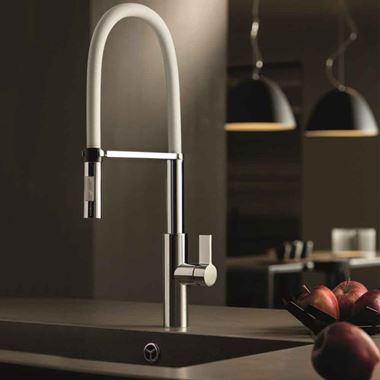 Newform Pura Single Lever Sink Mixer with Swivel Spout & Adjustable Spring - Chrome