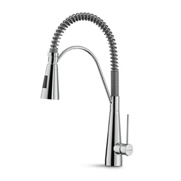Newform Ycon Mono Kitchen Mixer With Adjustable Spring Spout & Double Jet Spray