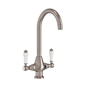 Butler & Rose Traditional Mono Kitchen Mixer - Brushed Stainless Steel