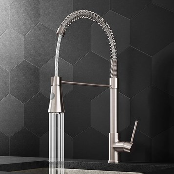 Harbour Acclaim Kitchen Tap with Flexible / Movable Multi-Function Spray - Brushed Stainless Steel