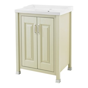 Old London 600mm Pistachio Freestanding Vanity Unit