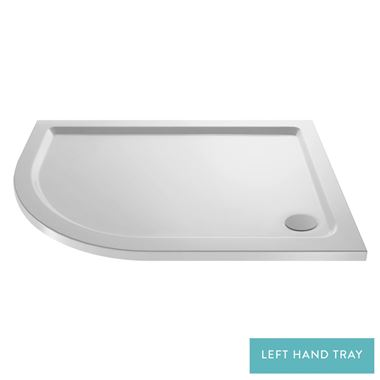 Drench MineralStone 40mm Low Profile Quadrant & Offset Quadrant Shower Tray - 1000x800 - LH