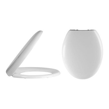 Kinglet White Round Soft Close Toilet Seat With Quick Release