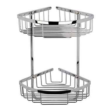 nuie Wirework Large 2 Tier Corner Basket