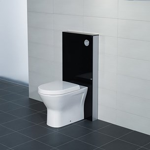 RAK Obelisk Glass Cabinet Cistern Frame for Wall Hung Toilets - Gloss Black