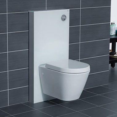 RAK Obelisk Glass Cabinet Cistern Frame for Wall Hung Toilets - Alpine White
