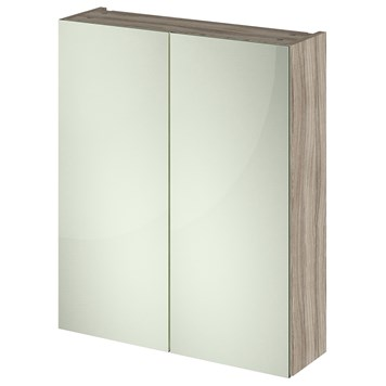 Drench Emily 600mm Mirror Cabinet - Driftwood