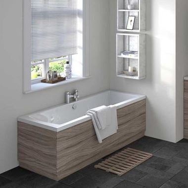 Drift 1700mm Straight Bath Panel - Driftwood