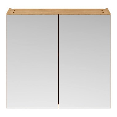 Drench Emily 800mm Mirror Cabinet - Natural Oak