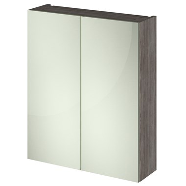 Drench Emily 600mm Mirror Cabinet - Grey Avola