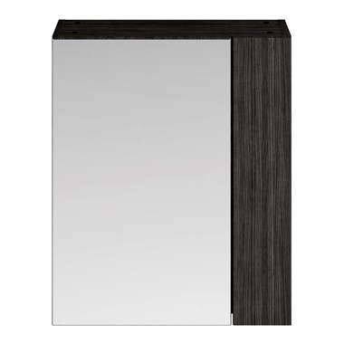 Drench Emily 600mm Mirror Cabinet with Offset Door - Hacienda Black