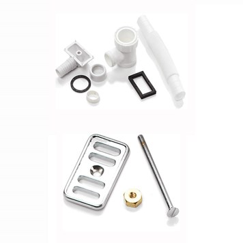 RAK Overflow Cover Plate and Overflow Plumbing Kit for 1.5 Bowl Sinks