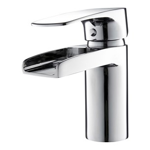 Vellamo Ohio Waterfall Basin Mixer with Clicker Waste