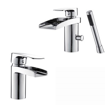 Vellamo Ohio Basin Mixer & Mono Bath Shower Mixer Pack