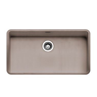 Reginox Ohio Sahara Sand Stainless Steel Undermount Kitchen Sink & Waste Kit - 840 x 460mm