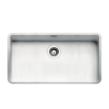Reginox Ohio Arctic White Stainless Steel Undermount Kitchen Sink & Waste Kit - 840 x 460mm