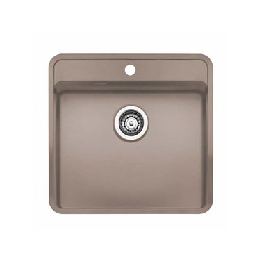 Regniox Ohio Sahara Sand Stainless Steel Kitchen Sink & Waste Kit with Tap Wing - 540 x 510mm
