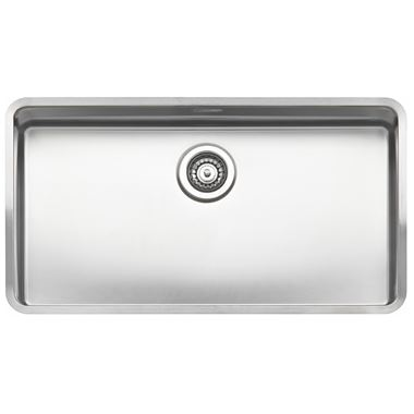 Reginox Ohio 80 x 42 Single Bowl Stainless Steel Undermount Kitchen Sink & Waste