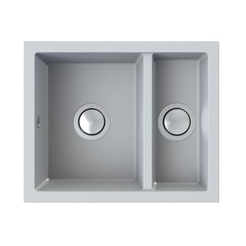 Astracast Onyx 1.5 Bowl Inset or Undermount Concrete Grey Granite Composite Kitchen Sink & Waste Kit - 558 x 460mm