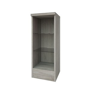 Drench Gregory 300mm Open Glass Shelf Unit - Grey Ash