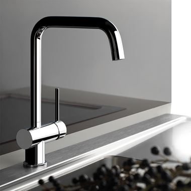 Gessi Oxygen Single Lever Mono Kitchen Mixer with Swivel 'U' Spout