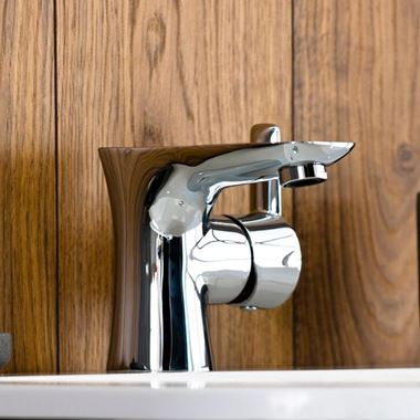 Vellamo Scene Basin Mixer with Clicker Waste
