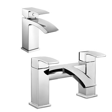 Vellamo City Waterfall Basin Mixer & Bath Filler Value Pack